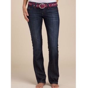 Lucky Brand Lola Straight Leg Blue Dark Wash Jeans